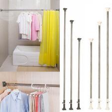Telescopic Shower Curtain Rail Adjustable Bathroom Rod StainlessSteel Heavy Duty