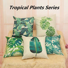 Fashion Floral Tropical Plant Pillow Case Cotton Linen Cushion Cover Home Decor
