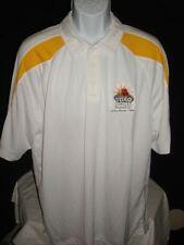 Augusta Sportswear * El Toro Bowl * poly White/Yellow golf Xl Polo Shirt Euc