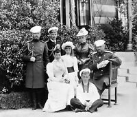 1893-Photo Russian Imperial Family-Livadia-Tsar Alexander III-Empress Feodorovna