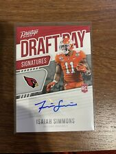 Isaiah Simmons Auto Draft Day Signatures Rookie Card Arizonia Cardinals 2020