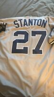 Giancarlo Stanton New York Yankees Jersey Majestic Mens Large