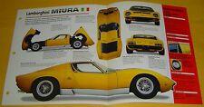 1967 1968 1969 1970 Lamborghini Miura V12 P400S 3929cc IMP Info/Specs/Photo 15x9