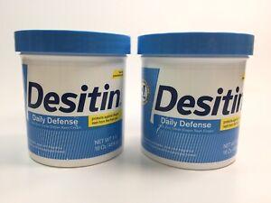Desitin Daily Defense New Unsealed ( 2 pack ) 16 oz / 454 g EXP 11/23 C23 E