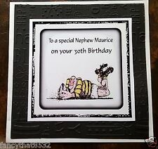 Mens Handmade Personalised Birthday Card ANY AGE Rugby Son Brother 18th 21st Dad