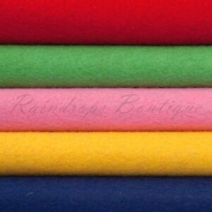 """Felt Wool blend Luxury Merino Wool Rayon 36"""" wide x 1/2mt (90 x 50cms) En71 Pass"""