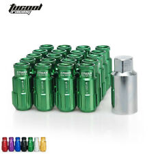 Racing Lug Nuts12X1.5MM Open End Extenede Turner With Key For Honda Toyota Green