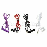 Flat Wired 3.5mm In-Ear Earphone Headphone Earbud Headset for MP3 MP4 Player PC