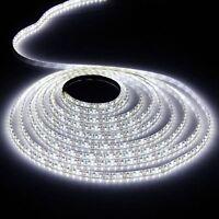 5M White Waterproof 300 LED Strip Light 5050 SMD String Ribbon Tape Roll 12V