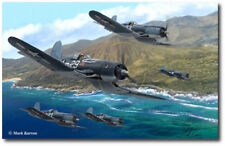 Pirates of The Pacific by Mark Karvon - Vought F4U Corsair - Aviation Art