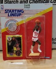 MICHAEL JORDAN BULLS 1991 STARTING LINEUP FIGURE WITH COIN VARIANT WHITE JERSEY