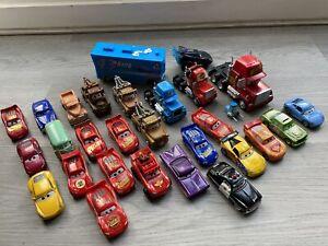 DISNEY PIXAR CARS 1 / 2 / 3 DIECAST PLASTIC VARIOUS BUNDLE X 25