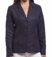 Pendleton Navy Blue Linen Jacket Blazer Sz M