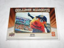 2013 Upper Deck OTTO the Orange #CM-84 SYRACUSE Orangemen Mascot Patch Case Hit
