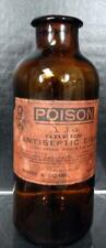 Antique Sharp & Dohme Pharmacy Bottle Green Antiseptic Disks Vaginal Use Only