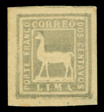 PERU 1873  Llama  2c  gray  Sc# 20  mint MH VF+