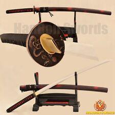Japanese Katana Samurai Sword 9260 Spring Steel Real Handmade Full Tang Blade