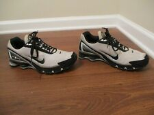 Classic 2006 Used Worn Size 9 Nike Shox Turbo IV Shoes Black Gray Silver