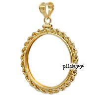 1/20 14k gold filled Sacagawea Golden Dollar Coin Rope Bezel  Frame Mount