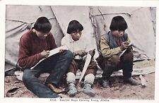 Alaska Eskimo Boys Carving Ivory sk2985