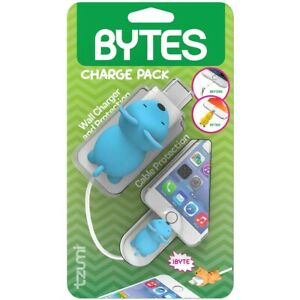 tzumi Cord Bytes Charge Pack Cable Protector & Adapter - Blue Mouse (6270)
