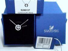 Swarovski Sparkling Dance Round Necklace, White 3D Cage Authentic MIB 5286137