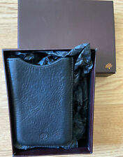 Mulberry Black Leather Phone Case. Fits Iphone 12 Mini