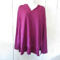 New Cuddl Duds Hoodie Top XL X Large Purple Pullover Ultra Soft Comfort QVC