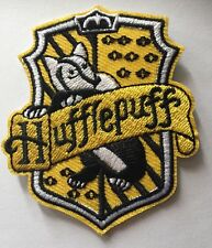 "Harry Potter Hufflepuff Hogwarts House Crest Embroidered Iron On Patch (2.5""x3"")"