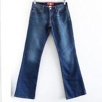 Lucky Brand Women's blue Jeans Size 2 / 26 denim stretch dark wash bootcut euc