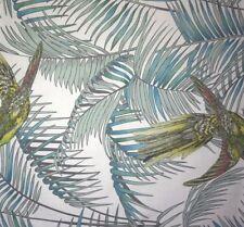 OSBORNE & LITTLE Matthew Williamson Sunbird Eden Green Teal Cotton Remnant New