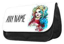 Personalised Suicide Girl Harley Quinn themed Pencil Case,make up case.