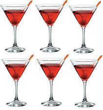 Set of 6 Bormioli Martini Glasses 170ml STAR GLASS