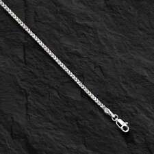 "14k White Gold Franco Curb Box Link 20"" 1.2mm  4.5 grams pendant chain Necklace"