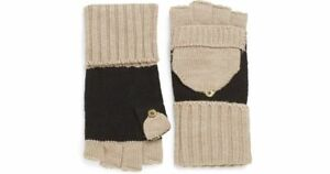 Calvin Klein - Fliptop Convertible Knit Gloves (Almond/Black) Style# 4KG2381A