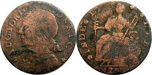 1788 Connecticut Copper, Miller 13-A.1, RARE CONNLC error variety, SHARP DETAIL!