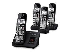 Panasonic KX-TG3634B Cordless Telephone with Answering Machine, 4 Handsets