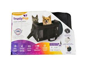 TrustyPup Travel Easy Explorer Pet Carrier-Medium Black-Pets Up T 786306520007