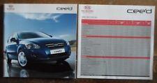 KIA CEE'D orig 2007 2008 UK Mkt Sales Brochure + Specs Folder