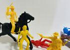 Vintage Cowboys & Indians Figures Horses Riders Plastic 1950s Toys MPC Marx