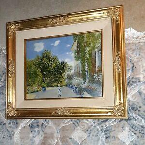 Claude Monet The Artist's House at Argenteuil Framed Print 18x21.