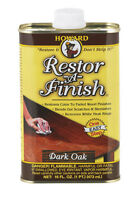 HOWARD Original Restor-A-Finish 1 Pt DARK OAK Wood Furniture Restorer RF7016