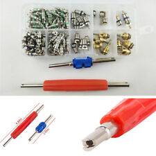 100x Air Conditioning Valve Core + 2x Refrigeration Tire Valve Core Remover Tool