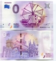 Moinho Caixeiros Silveira Windmills 2019 Series 1 Portugal 0 Euro Souvenir Note