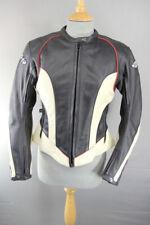 Joe Rocket Negro y Crema de cuero BIKER JACKET + CE armadura & Forro Térmico 34 in (approx. 86.36 cm)