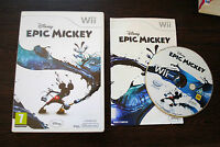 Jeu EPIC MICKEY pour Nintendo Wii PAL COMPLET (CD remis à neuf)