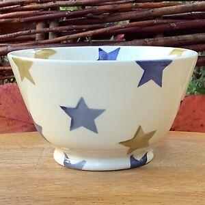 EMMA BRIDGEWATER . Stormy Stars . Small OLD BOWL . Blue . Autumn spongeware