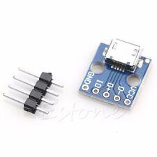 Female Micro USB B to DIP 5 Pin DIY Pin Out Soldering Circuit PCB Board