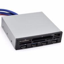 USB 3.0 3.5 Internal Card Reader With HUB Micro SD SDHC MMS XD M2 CF Black
