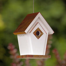 Fancy Home Products Copper Top Hanging Wren Bird House with Predator Guard